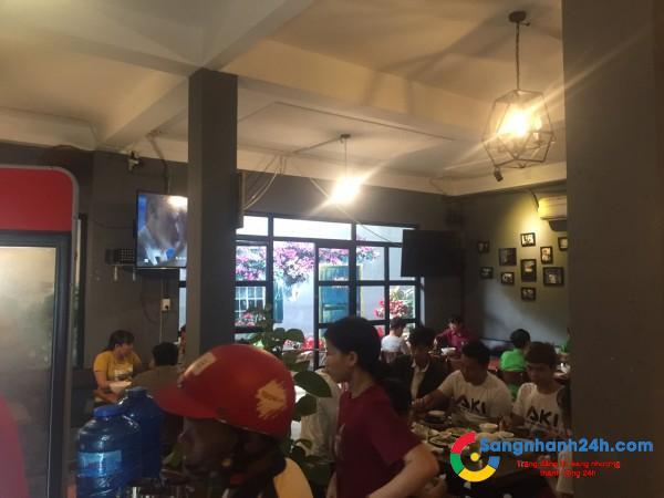 Sang gấp quán cafe cơm văn phòng kết hợp ngay trung tâm quận Gò Vấp.